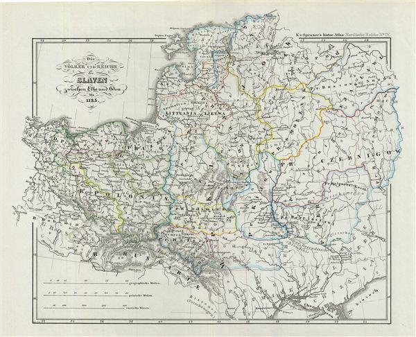 Die Völker und Reiche der Slaven zwischen Elbe und Don bis 1125.