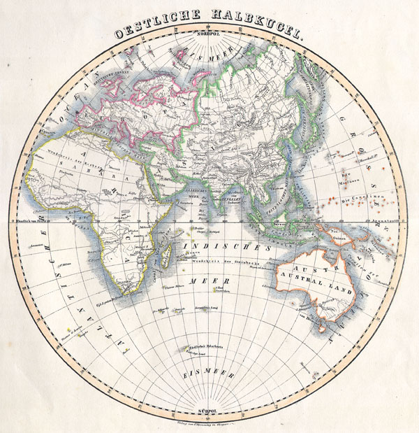 1844 Flemming Map of the Eastern Hemisphere