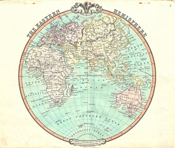 Map Of Africa Europe And Asia.The Eastern Hemisphere Geographicus Rare Antique Maps