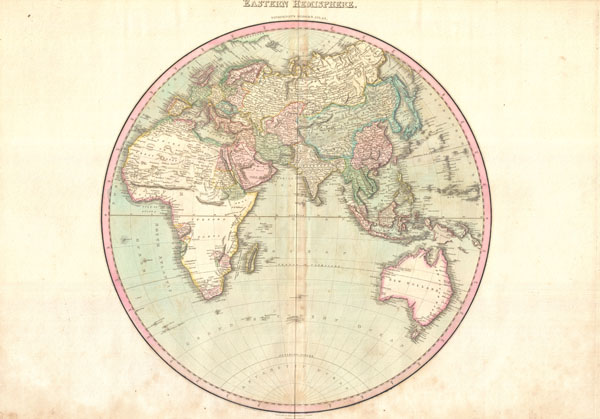 1818 Pinkerton Map of the Eastern Hemisphere