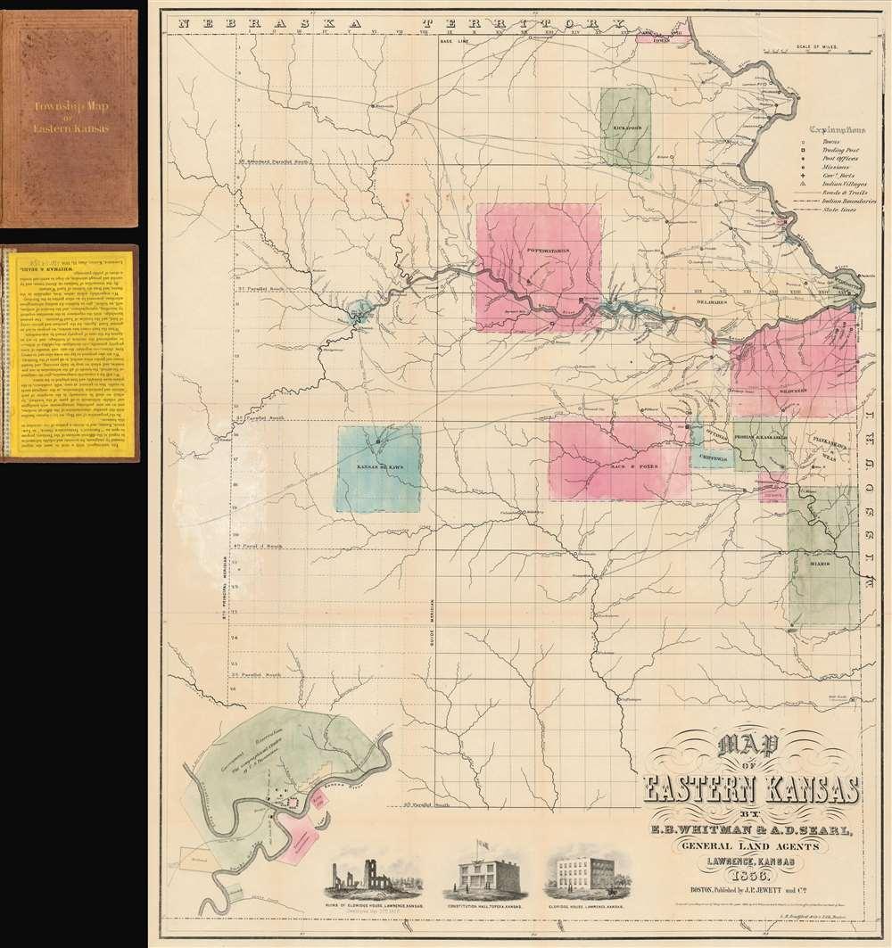 Map of Eastern Kansas. - Main View