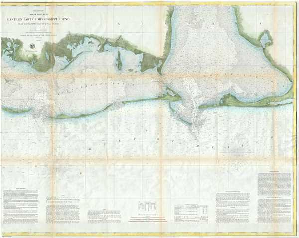 Preliminary Chart no. 91 Eastern Part of Mississippi Sound from Bon Secours Bay to Round Island.