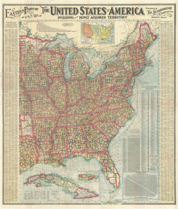 Eastern Part of The United States of America including all the Newly Acquired Territory. - Main View