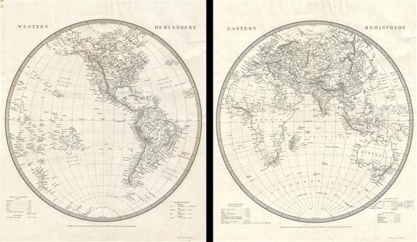 Eastern Hemisphere. Western Hemisphere. - Main View
