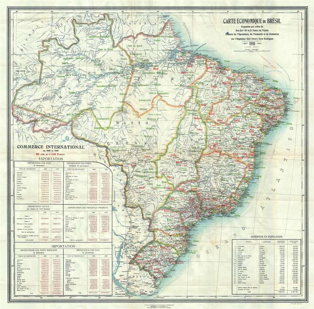 Carte Economique du Brésil
