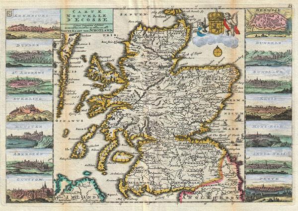 Carte Nouvelle D'Ecosse. / Nieuwe Kaart van Schotland.