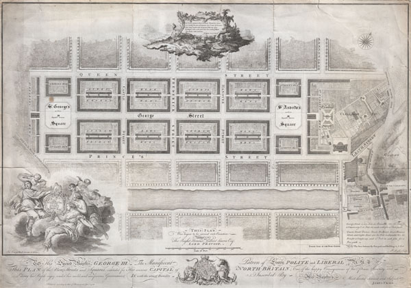 Plan of the New Streets and Squares intended for the city of Edinburgh. - Main View