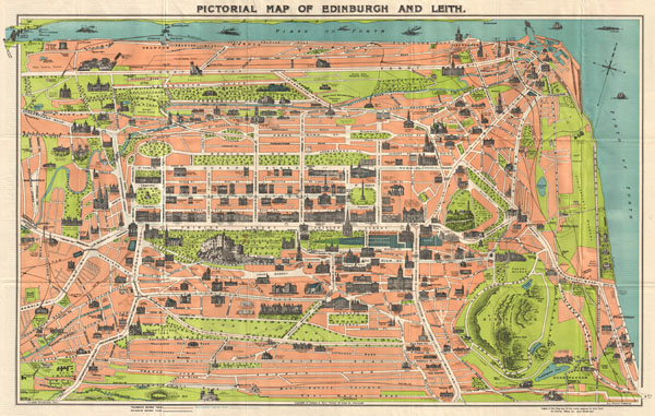 Pictorial Map of Edinburgh and Leith. - Main View