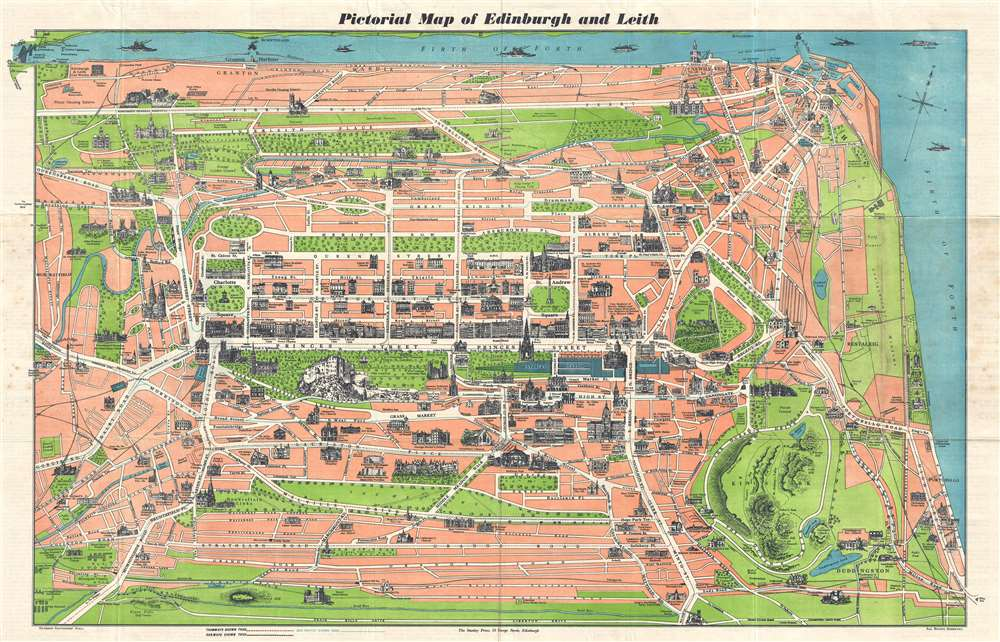 Pictorial Map of Edinburgh and Leith.: Geographicus Rare ...