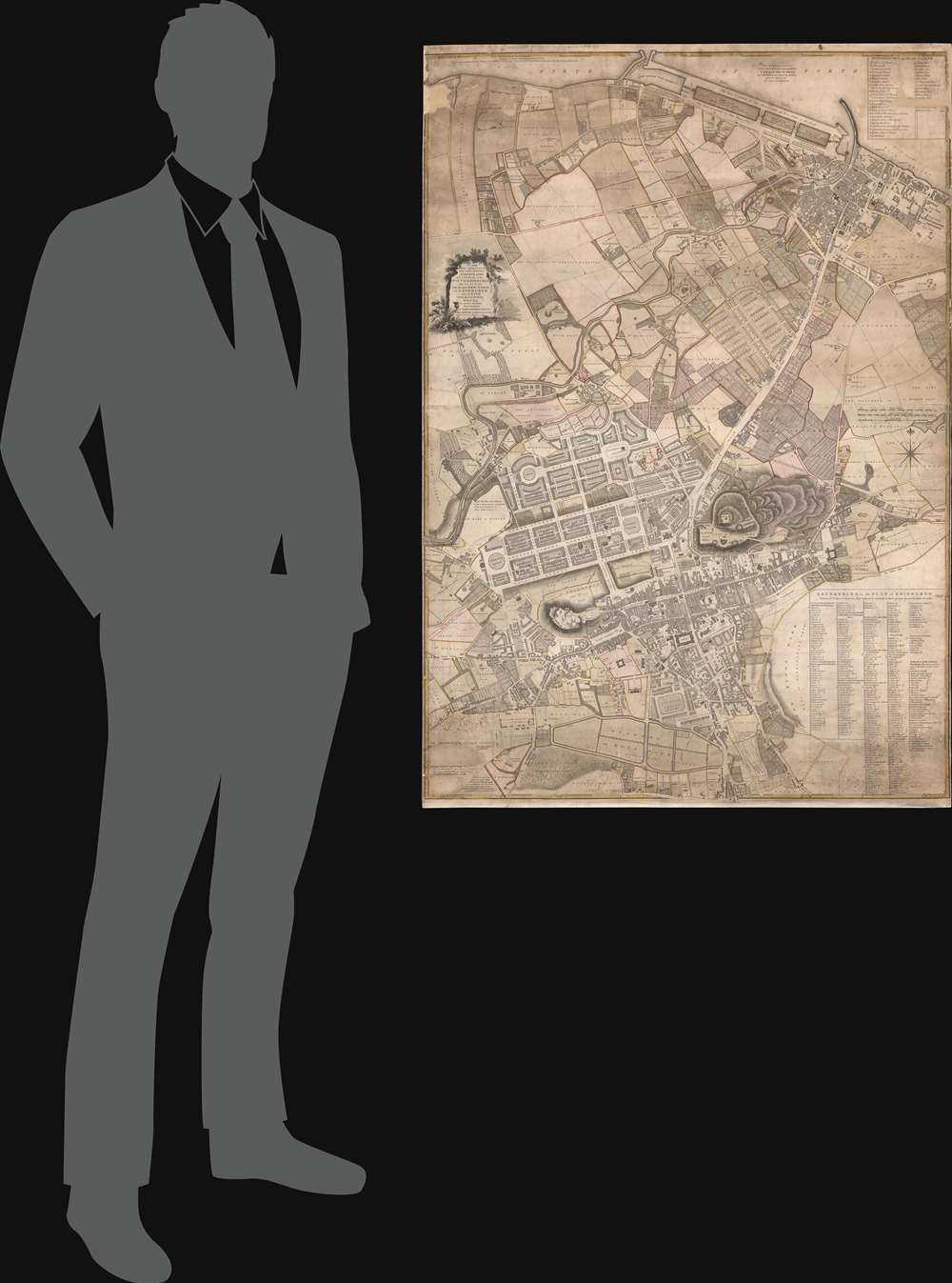 To the Right Honourable The Lord Provost Magistrates. and Council of the City of Edinburgh this Plan of the Old and new Town of Edinburgh and Leith With the Proposed Docks is Most Humbly Inscribed by Their Obedient Servant John Ainslie Land-Surveyor. - Alternate View 1