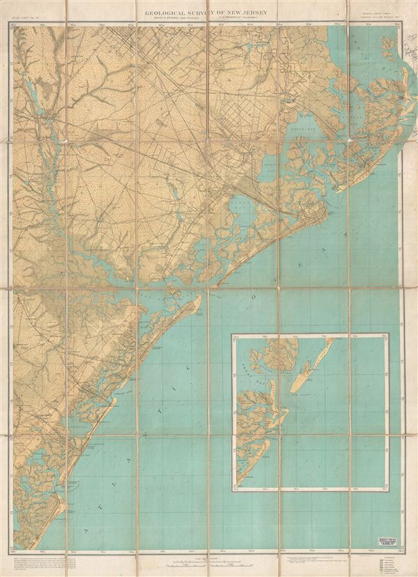 Topographical Map of the 'Egg harbor and Vicinity' New Jersey No 16.