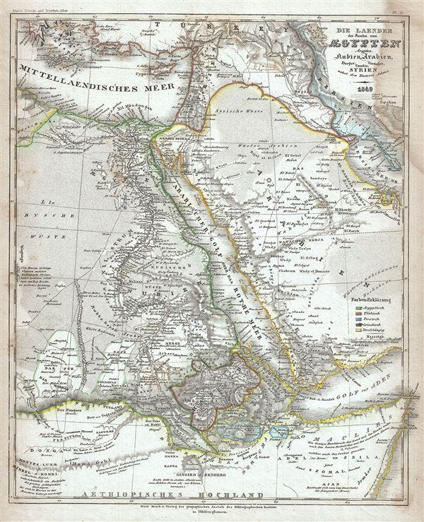 Die Laender des Pascha von Egypten Aeypten Nubien, Arabien, Darfur, Candia, Cordofan, Syrien nebst den District Adana.