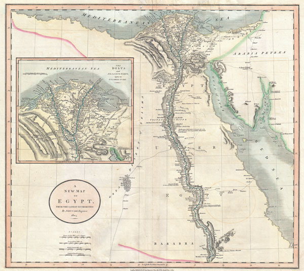 A New Map of Egypt, from the Latest Authorities.