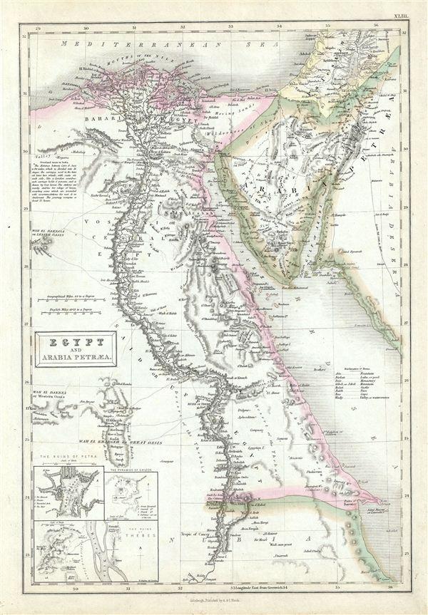 Egypt and Arabia Petraea. - Main View