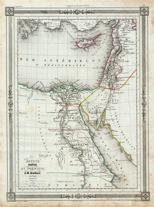 Egypte Palestine et Phenicie.