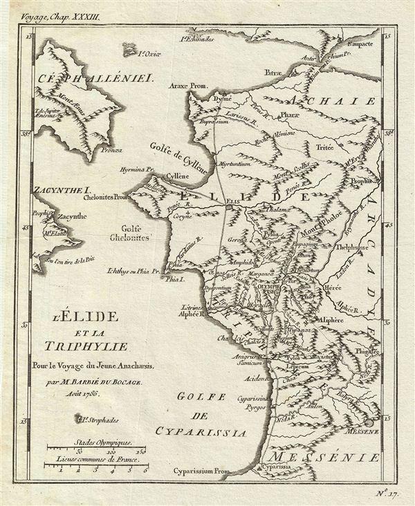 l'Elide et la Triphylie Pour le Voyage du Jeune Anacharsis.