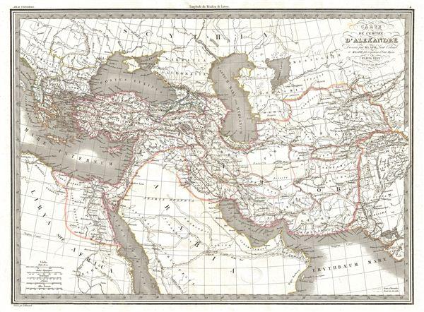 Carte de l'Empire d'Alexandre. - Main View
