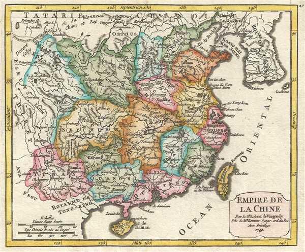 Empire de la Chine Par le Sr. Robert de Vaugondy fils de Mr. Robert Geogr. ord du Roi. - Main View