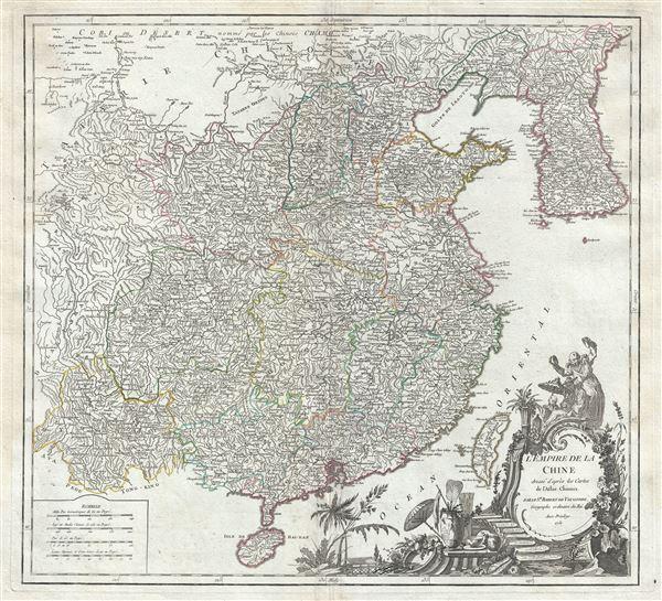 L'Empire de la Chine dresse d'apres les Cartes de l'Atlas Chinois.