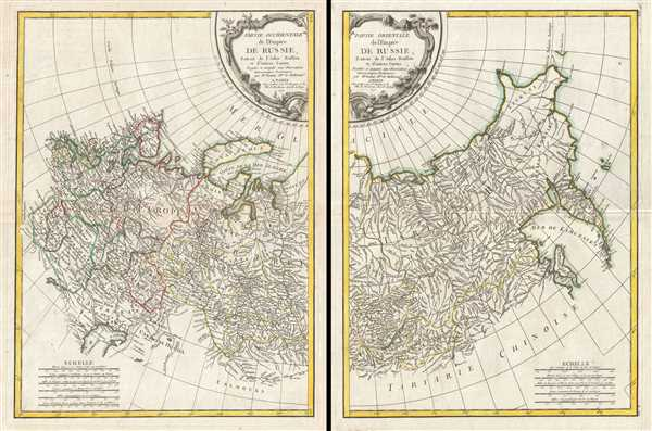 Partie Occidentale de l'Empire de Russie, Extrait de l'Atlas Russien et d'autres Cartes. Partie Orientale de l'Empire de Russie, Extrait de l'Atlas Russien et d'autres Cartes.