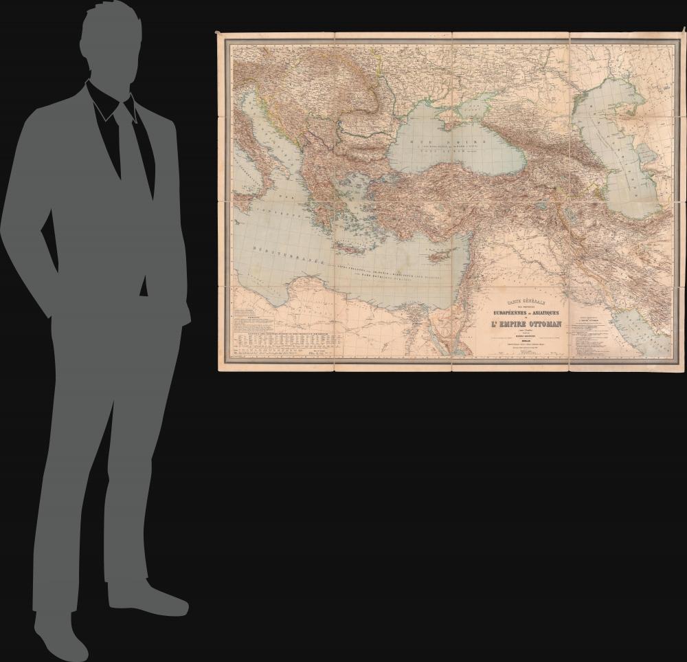 Carte Générale des Provinces Européennes et Asiatiques de l'Empire Ottoman (sans l'Arabie). - Alternate View 1