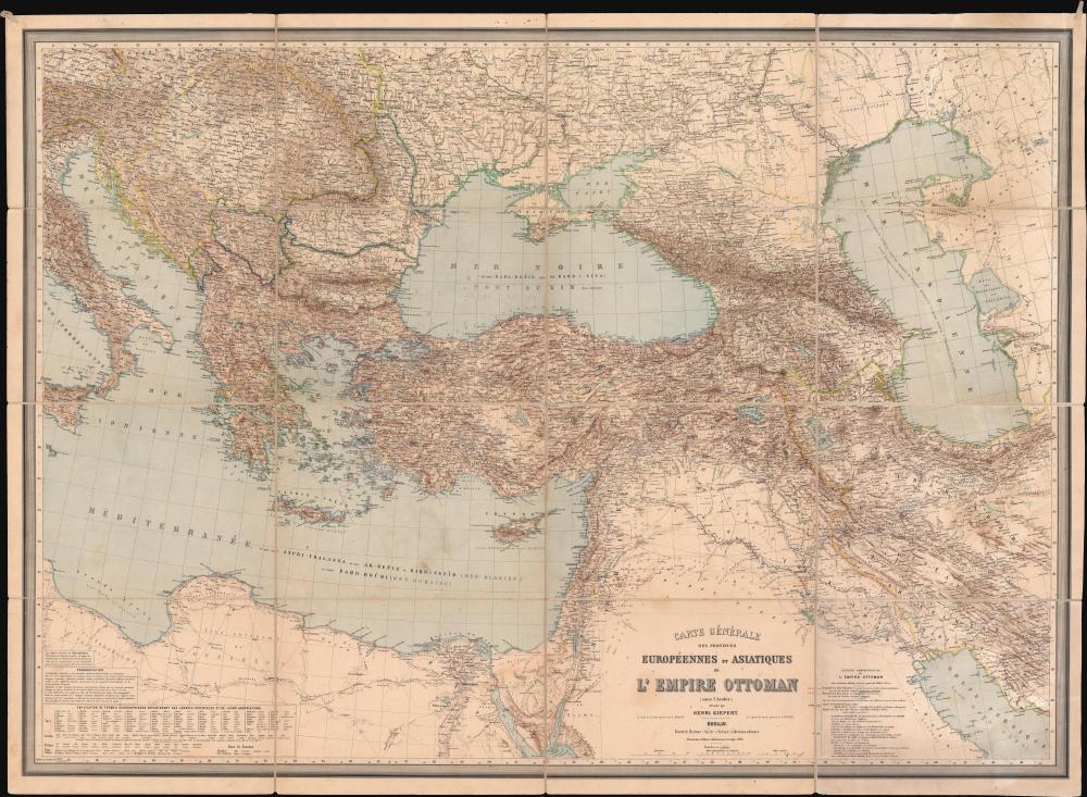 Carte Générale des Provinces Européennes et Asiatiques de l'Empire Ottoman (sans l'Arabie). - Main View