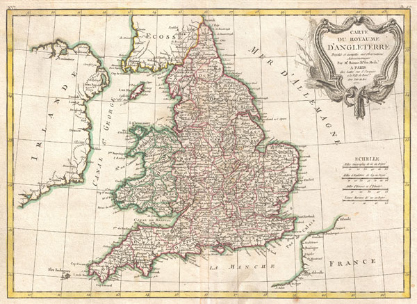 Carte du Royaume D'Angleterre. - Main View