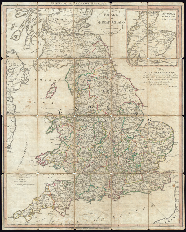 The Roads of Great Britain.  Itineraire de la Grande Bretagne. - Main View