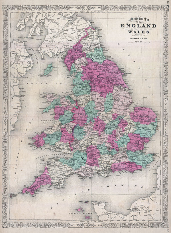 Johnson's England and Wales. - Main View