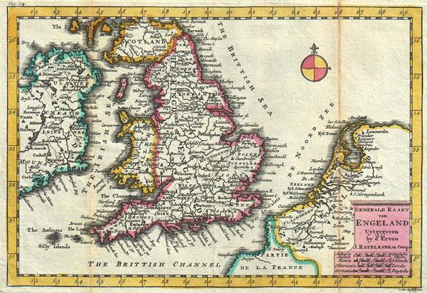 Generale Kaart van Engeland.