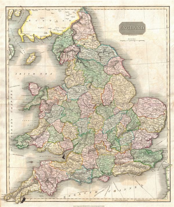 1814 Thomson Map of England
