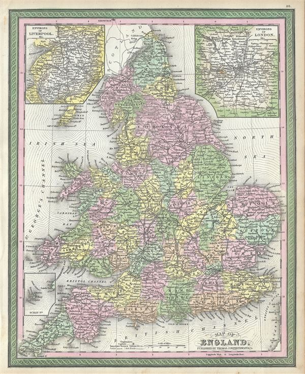 Map of England. - Main View