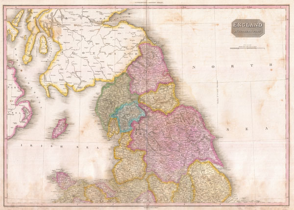 1818 Pinkerton Map of Northern England
