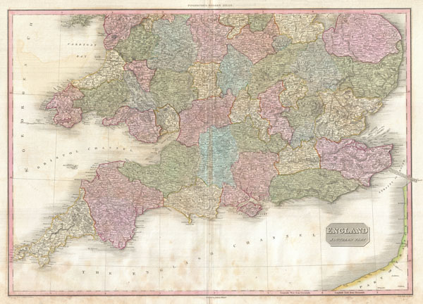 Map Of England South.England Southern Part Geographicus Rare Antique Maps