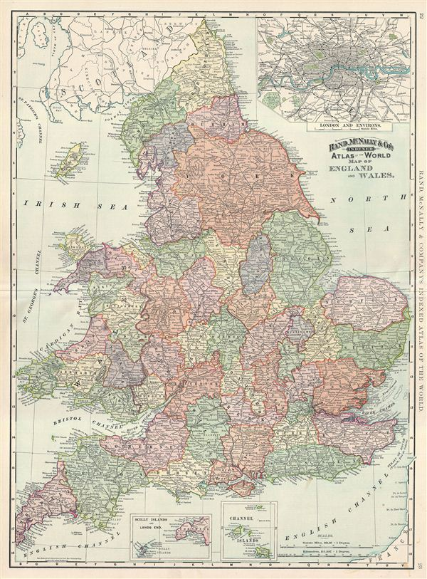 Map of England and Wales.