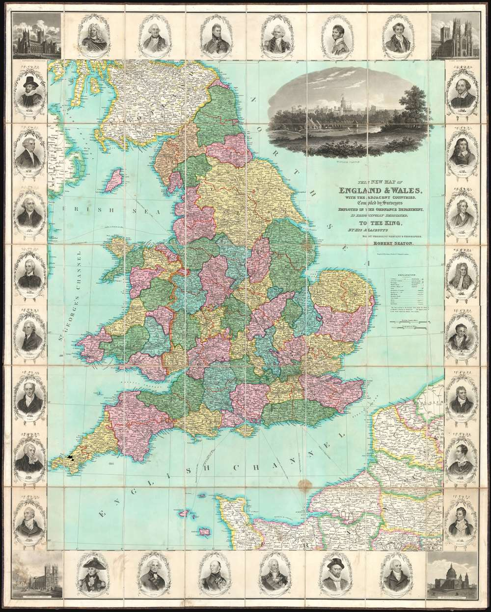 Large Map Of England.This New Map Of England And Wales With The Adjacent Countries