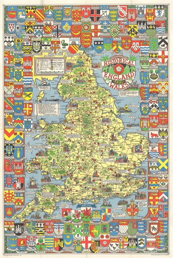 Historical Map of England and Wales.
