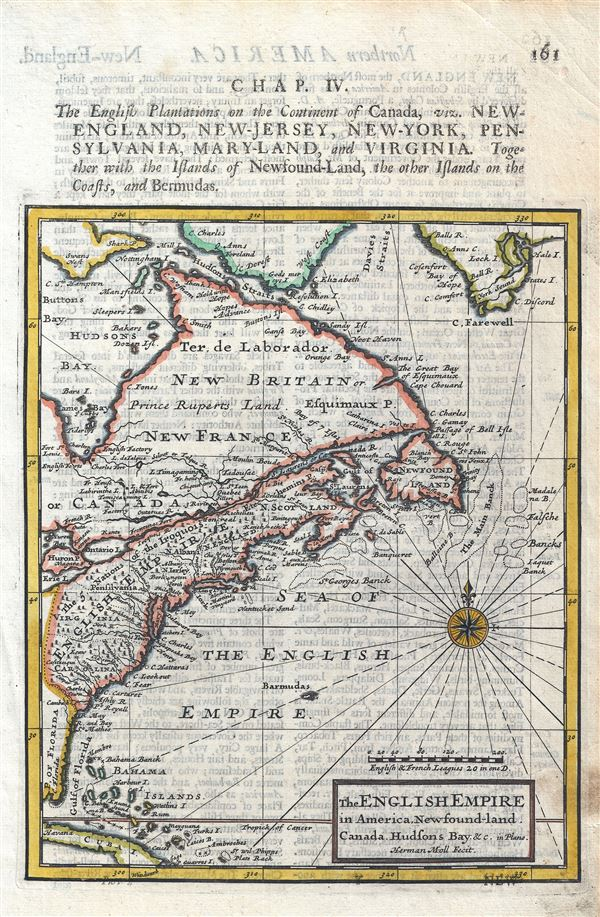 The English Empire in America, Newfound-land, Canada, Hudson Bay etc.
