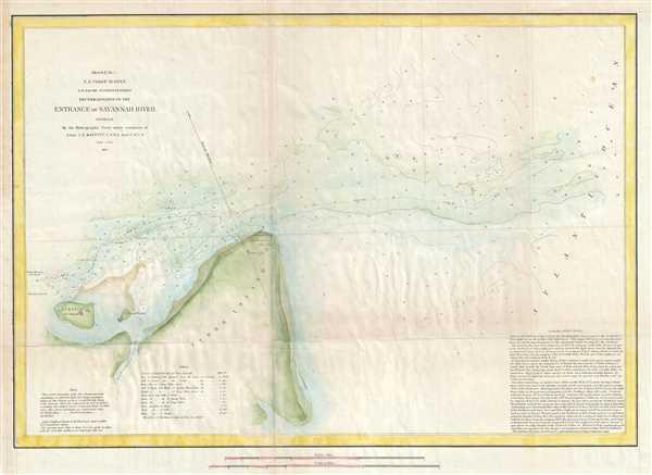 Sketch E No. 5 Reconnaissance of the Entrance of Savannah River Georgia.