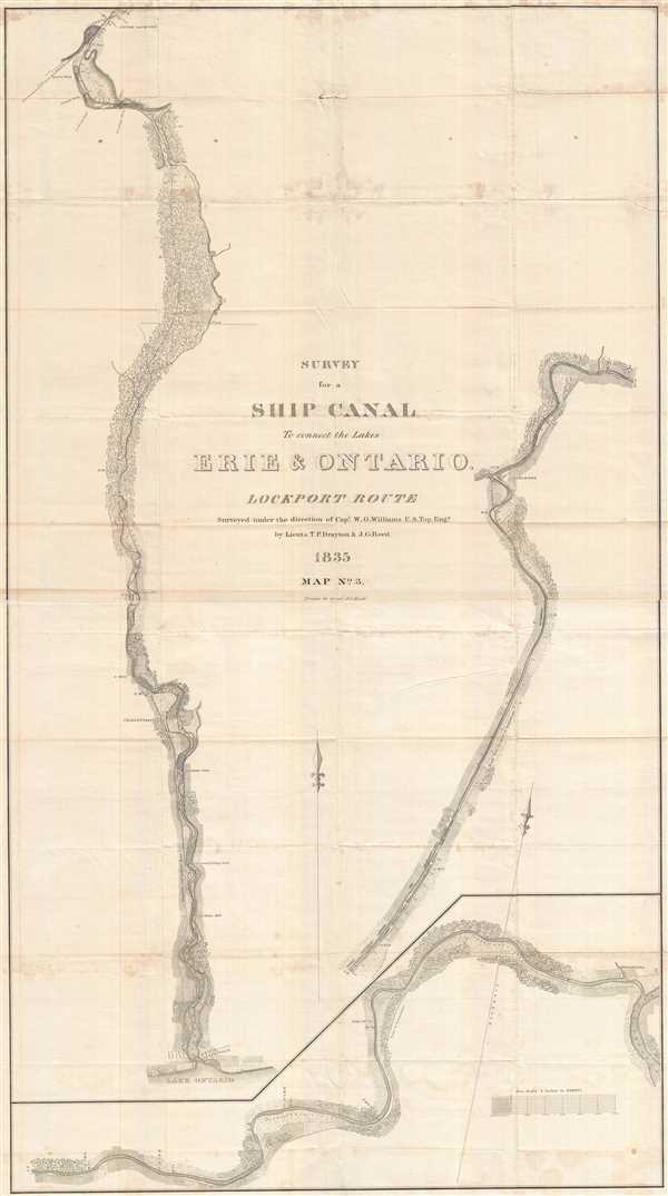 Survey for a Ship Canal to connect the Lakes Erie and Ontario. Lockport Route.