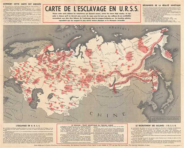 Carte de l'Esclavage en U.R.S.S.