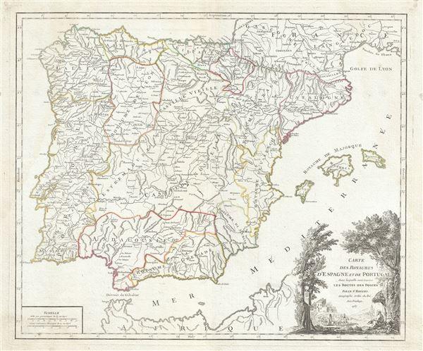 Royaumes d'Espagne et de Portugal.