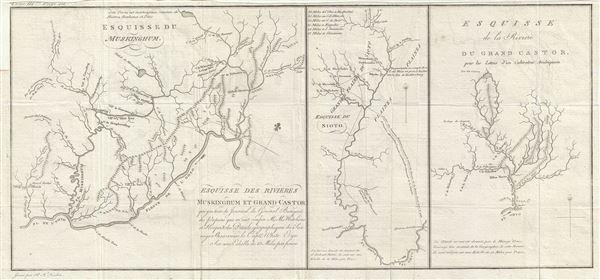 Esquisse du Muskinghum Esquisse des rivieres Muskinghum et Grand Castor.