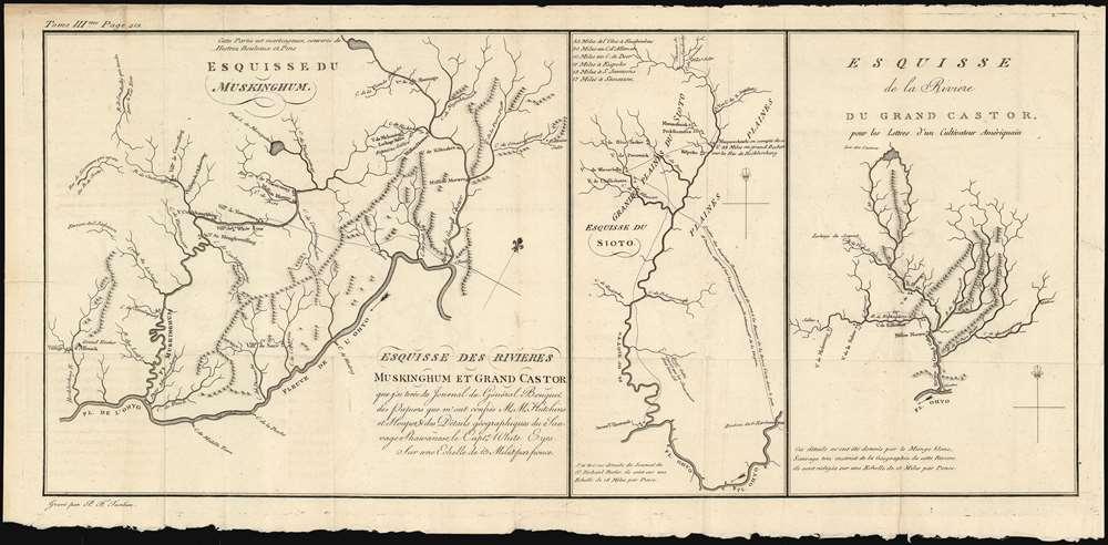 Esquisse des rivieres Muskinghum et Grand Castor que j'ai tiree du Journal du General Bouquet.