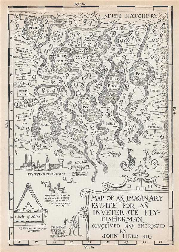 Map of an Imaginary Estate for an Inveterate Fly-Fisherman.