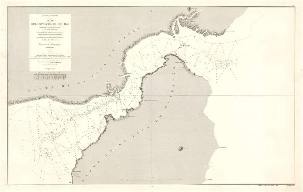 Archipiélago Filipino. Plano del Estrecho de Ilo - Ilo. - Main View