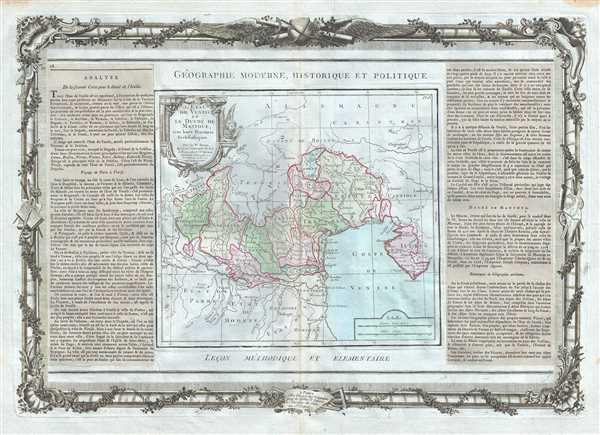 L'Etat De Venise et Le Duche De Mantoue, avec leurs Provinces Ecclesiastiques.