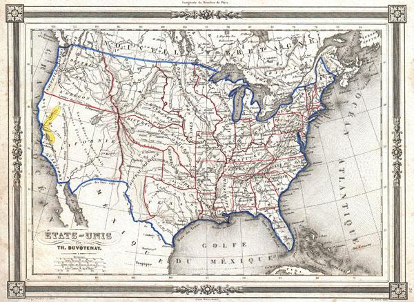 Etats-Unis par Th. Duvotenay. - Main View