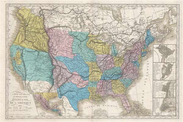 Carte Generale Du Theatre De La Guerre Dans Les Etats Unis De L - Us-map-before-mexican-american-war