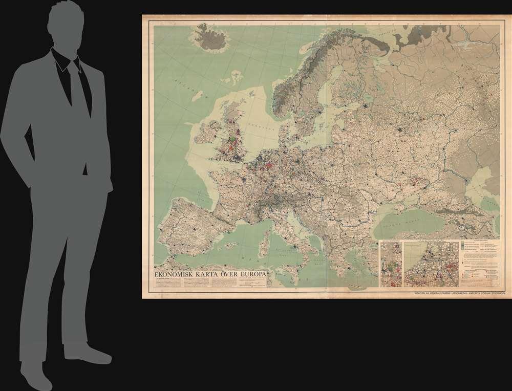 Ekonomisk Karta Över Europa. - Alternate View 1